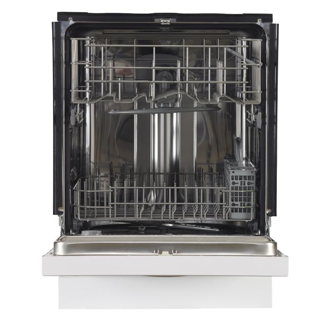 ge lave vaisselle encastr cuve haute en inox 24 blanc. Black Bedroom Furniture Sets. Home Design Ideas