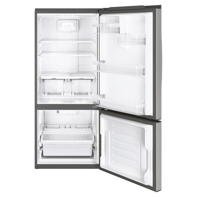 """Réfrigérateur congélateur inférieur 30"""", 20,9 pi³ inox"""