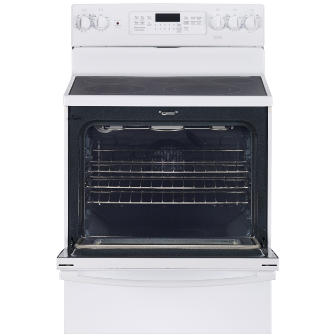 Freestanding Electric Convection Range - 5 cu. ft. - White