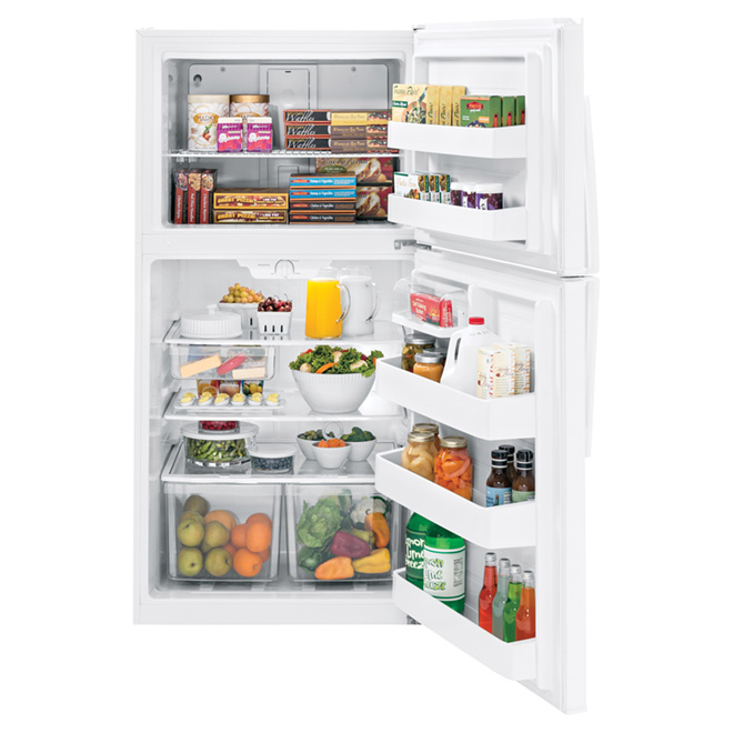 """Réfrigérateur congélateur supérieur 33"""", 21,2 pi³, blanc"""