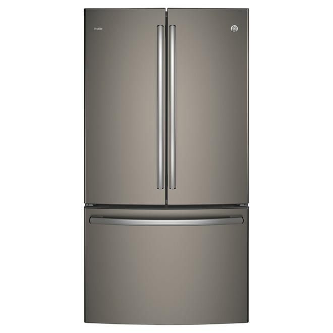 "French-Door Refrigerator - 36"" - 23.1 cu. ft. - Slate"