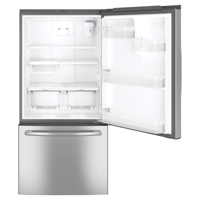 "Bottom-Freezer Refrigerator - 33"" - 24.9 cu. ft. - Steel"