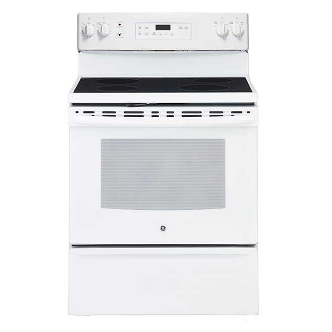 """Self-Cleaning Electric Range -5 cu. ft. - 30"""" -White"""