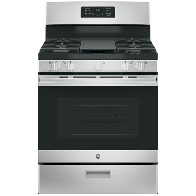 "Free-Standing Gas Range with Steam Clean - 30"" - 5 cu. ft - SS"