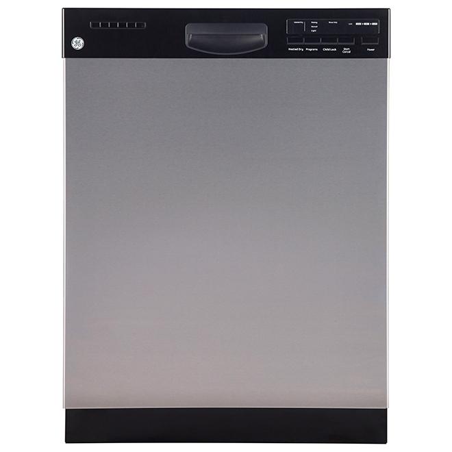 Ge Lave-vaisselle encastré à cuve en inox, 24, inox GDF410SSFSS