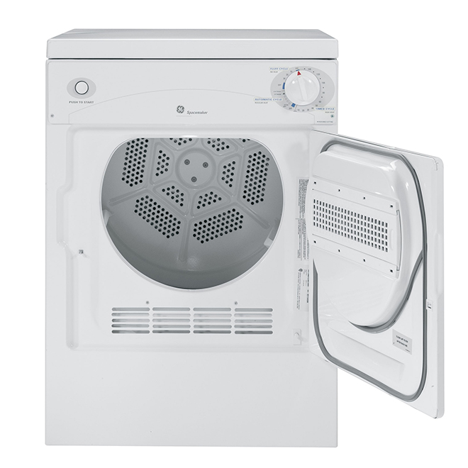 Electric Compact Dryer -3.6 cu. ft. - White