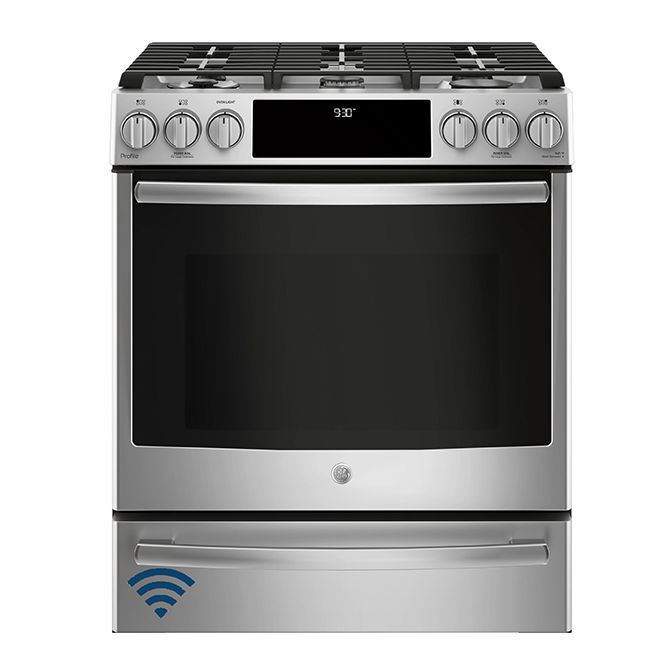 """Slide-In Dual-Fuel Convection Range - 30"""" - 5.6 cu. ft - SS"""