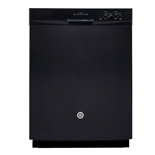 """Lave-vaisselle encastrable avec CleanSensor, 24"""", noir"""