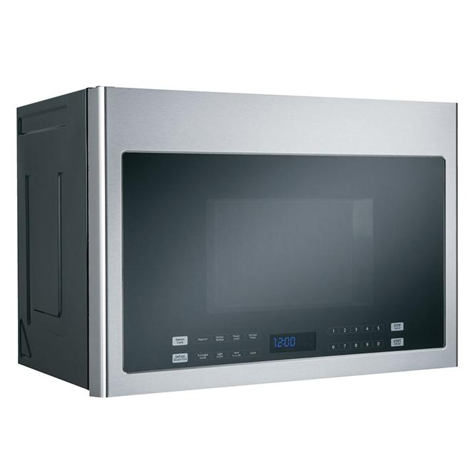 Four à micro-ondes à DEL et hotte intégrée, 1,4 pi³, inox