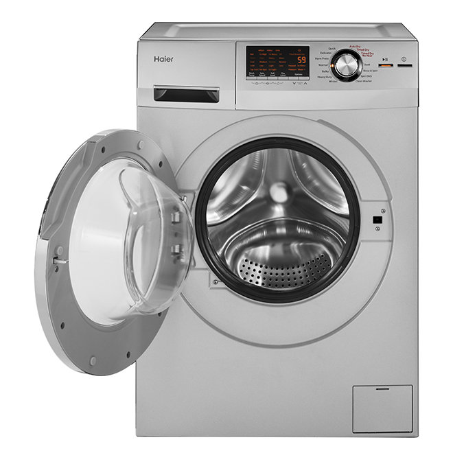 """2-in-1 Washer-Dryer Set - 24"""" - 2 cu. ft. - Silver"""