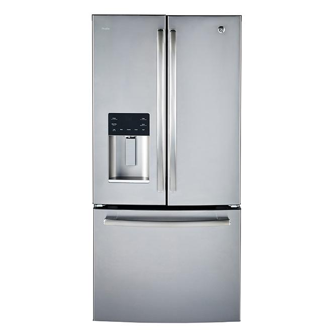 """French-Door Refrigerator - 33"""" - 17.6 cu. ft. - Steel"""