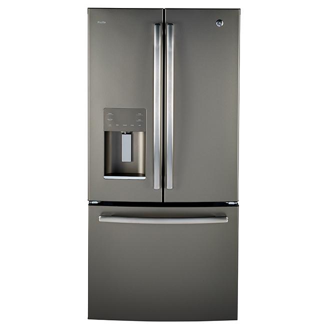 Réfrigrateur à portes françaises, 23,5 pi³, ardoise