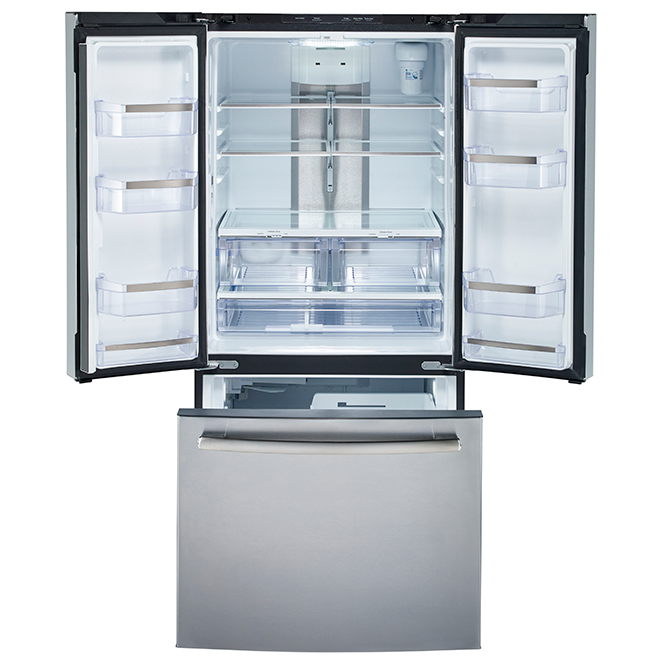French-Door Refrigerator - 20.8 cu. ft. - Stainless Steel