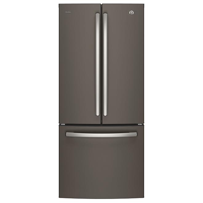 Réfrigérateur à portes françaises, 20,8 pi³, ardoise
