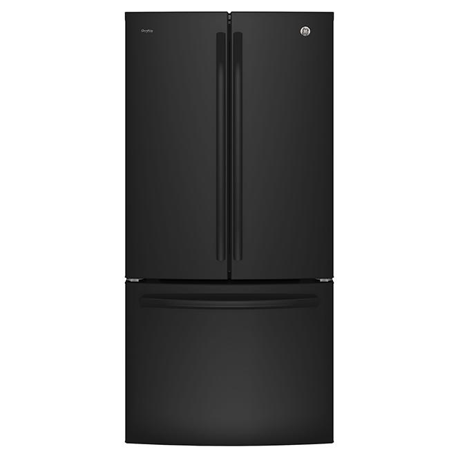 Réfrigérateur à portes françaises, 24,8 pi³, noir