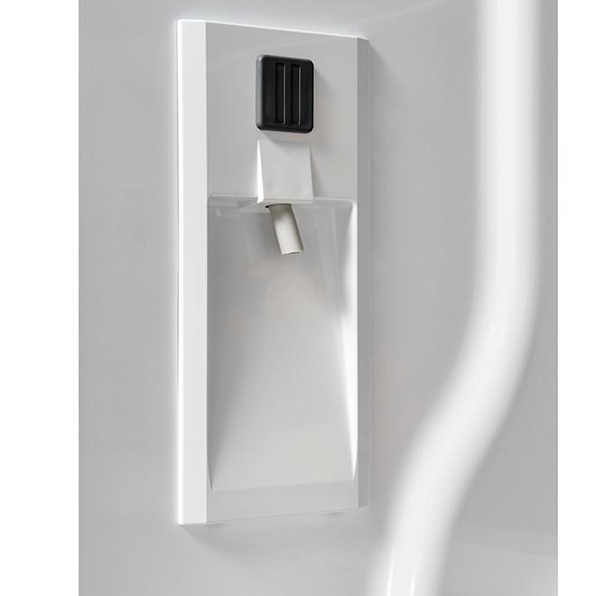 Réfrigérateur à portes françaises, 24,8 pi³, blanc