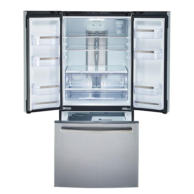 Réfrigérateur à portes françaises, 24,8 pi³, acier inoxydable