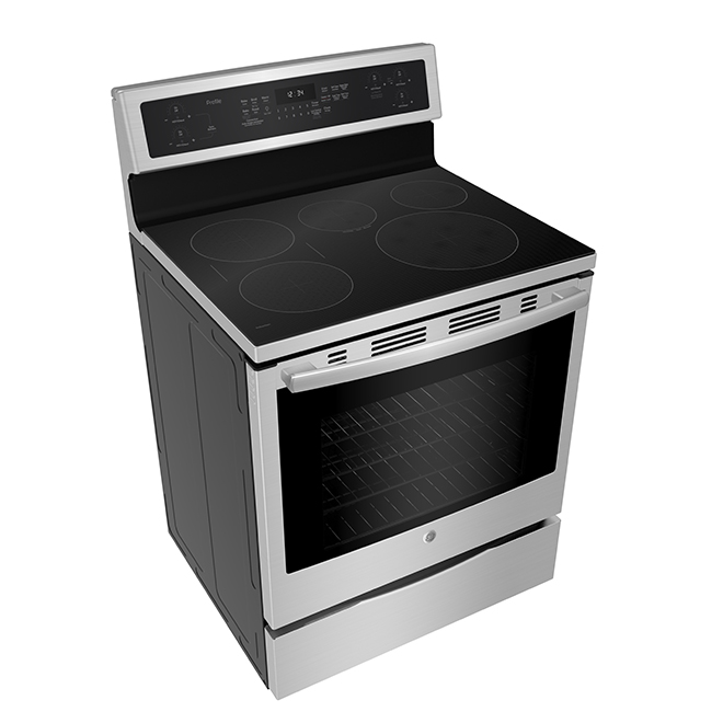 Cuisinière à induction, autoportante, 6,2 pi³, acier inoxydable