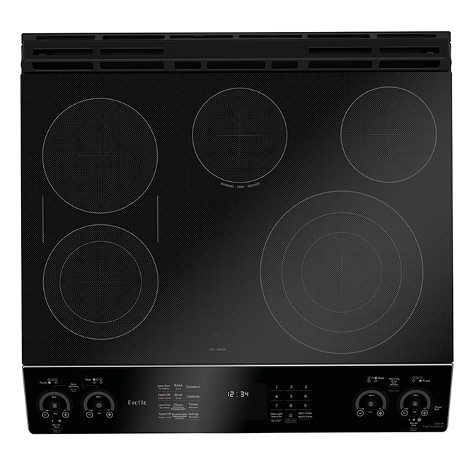Slide-In Double-Oven Electric Range - 6.7 cu. ft. - Stainless
