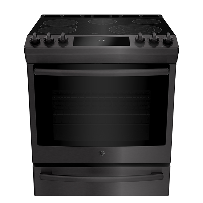 Slide-In Convection Range - 5.3 cu. ft. - Black Stainless