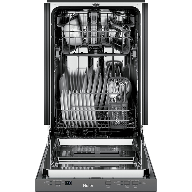 "Compact Built-In Dishwasher - 18"" - Stainless Steel"