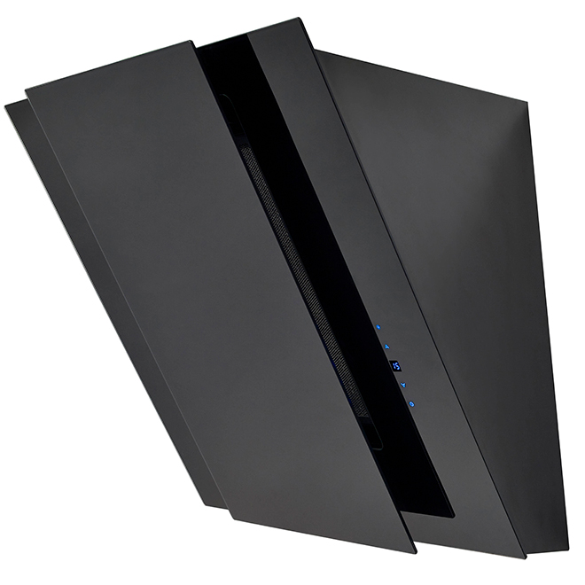 "Chimney Hood - 4 Speeds - 24"" - Black"