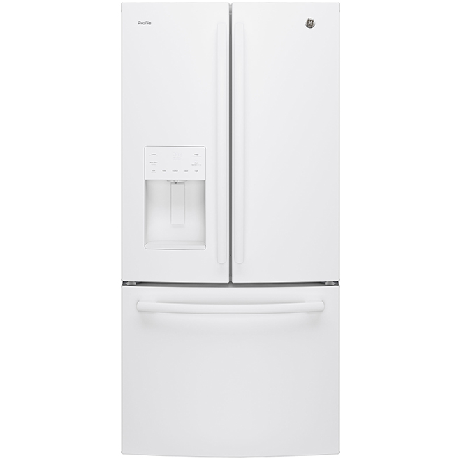"French Door Refrigerator - 33"" - 23.8 cu. ft. - White"