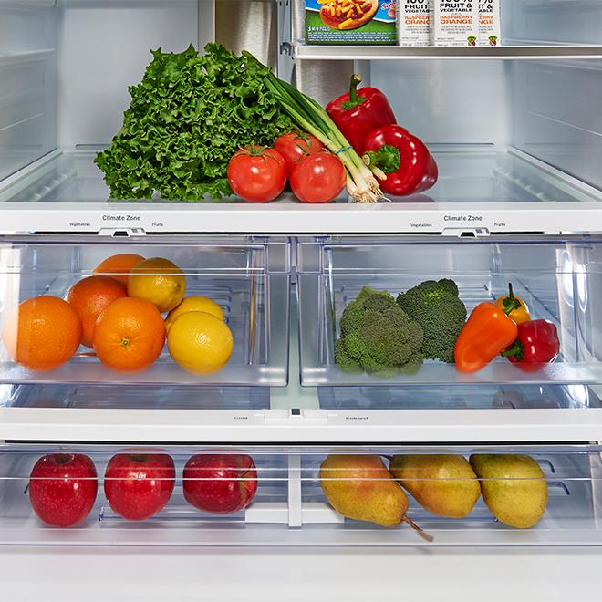 """Réfrigérateur à portes françaises, 33"""", 23,8 pi³, blanc"""