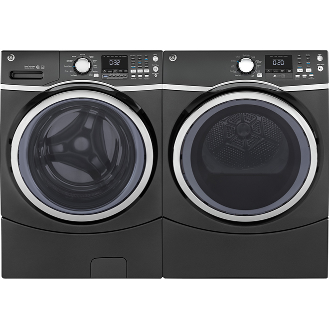 "27"" Electric Dryer with Steam - 7.5 cu. ft. - Diamond Gray"