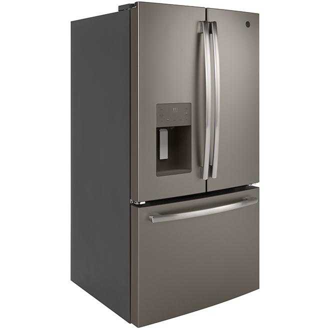 """Réfrigérateur à portes françaises, 36"""", 25,5 pi³, ardoise"""