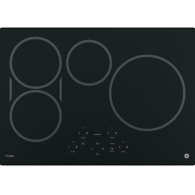 "30"" Induction Cooktop with Bridge Element - Black"