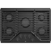 "Gas Cooktop - 5 Burners - 30"" - Black"