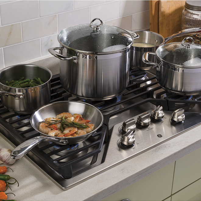 "Gas Cooktop - 5 Burners - 30"" - Stainless Steel"