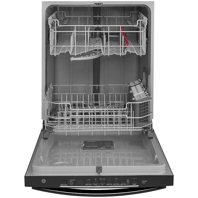 """Lave-vaisselle encastré à cuve haute PermaTuf, 24"""", noir"""