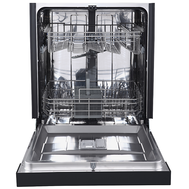 """Built-In Dishwasher with CleanSensor - 24"""" - Black"""