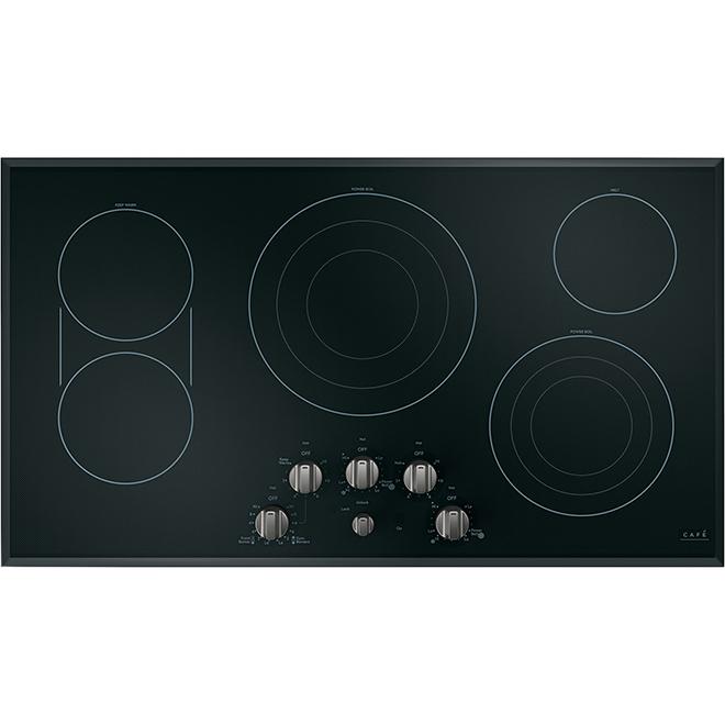Boutons pour table de cuisson GE Café, acier inoxydable noir, 6 morceaux