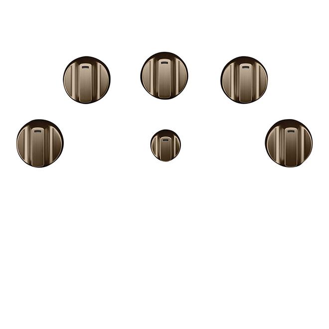 GE Cafe® Cooktop Control Knobs - Brushed Bronze