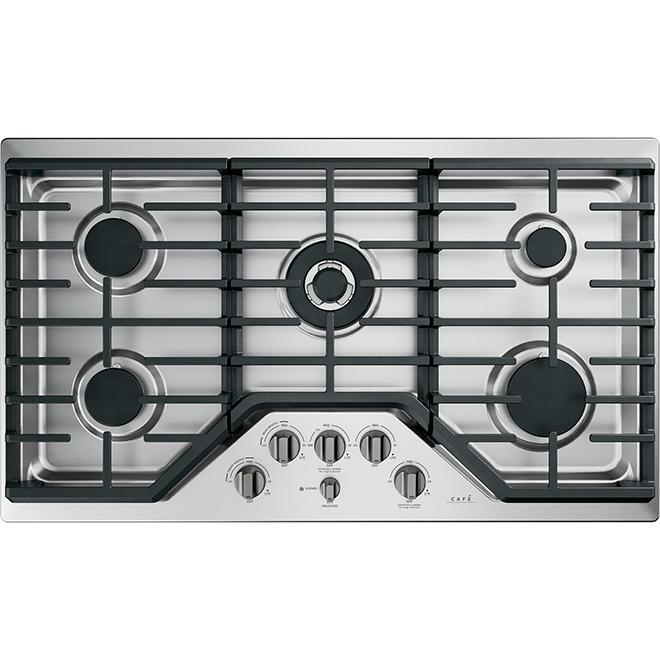 Boutons pour table de cuisson au gaz par GE Café, noir brossé, ensemble de 6