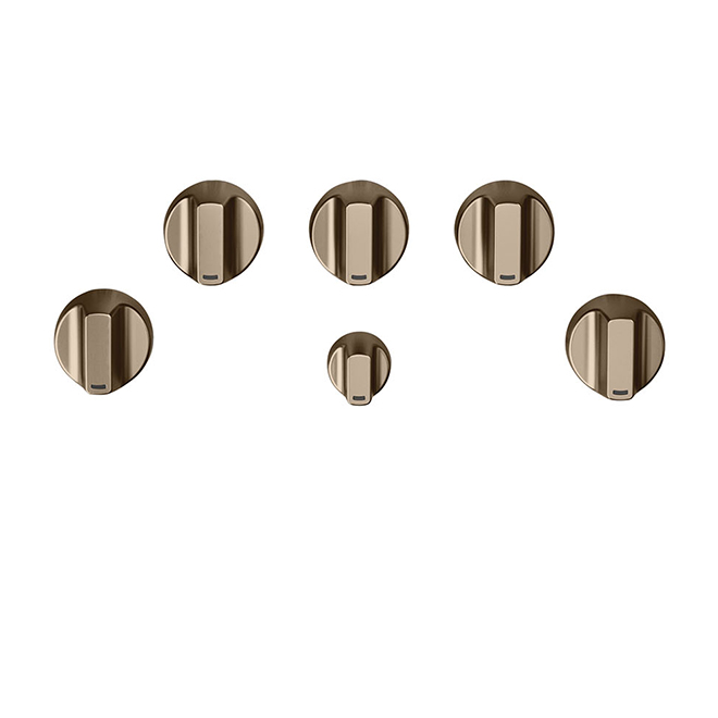 GE Cafe® Gas Cooktop Control Knobs - Brushed Bronze
