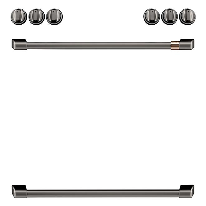 GE Cafe® Knobs/Handles for Range - Black Brushed