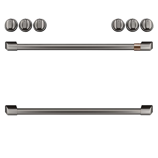 GE Cafe® Knobs/Handles for Gas Range - Brushed Black