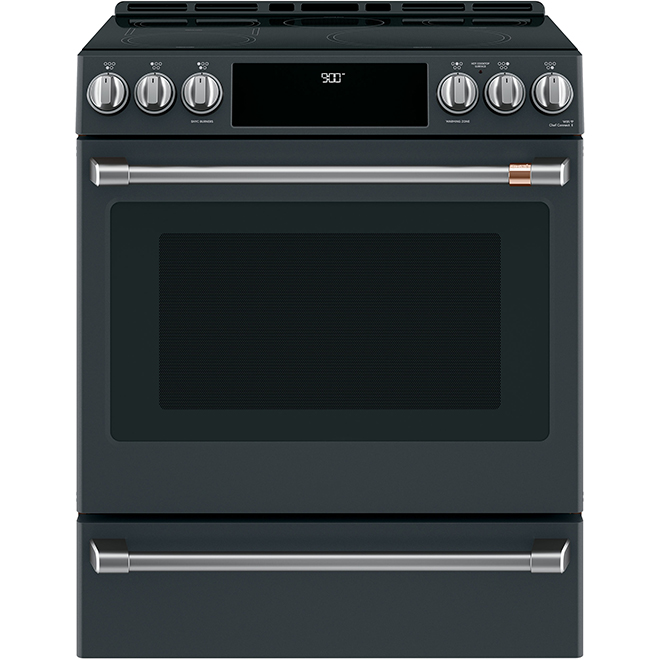 "Café(TM) Convection Range - Induction - 30"" - 5.7 cu. ft. - Black"