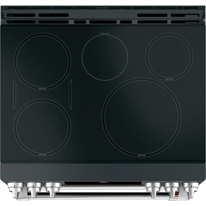 """Café(TM) Dual-Oven Induction Range - 30"""" - Matte Black"""