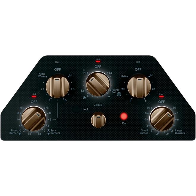 """GE Café Electric Cooktop - 5 Elements - 30"""" - Black/Bronze"""
