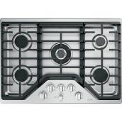 "GE Café Gas Cooktop - 5 Burners - 30"" - Stainless Steel"