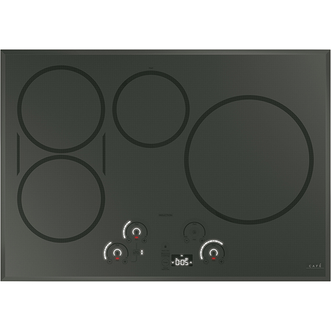 Surface de cuisson à induction Café, 30 po, gris foncé, touches intelligentes