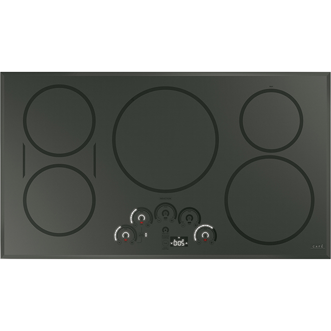 "Induction Cooktop with Wi-Fi Connectivity - 36"" - Dark Grey"