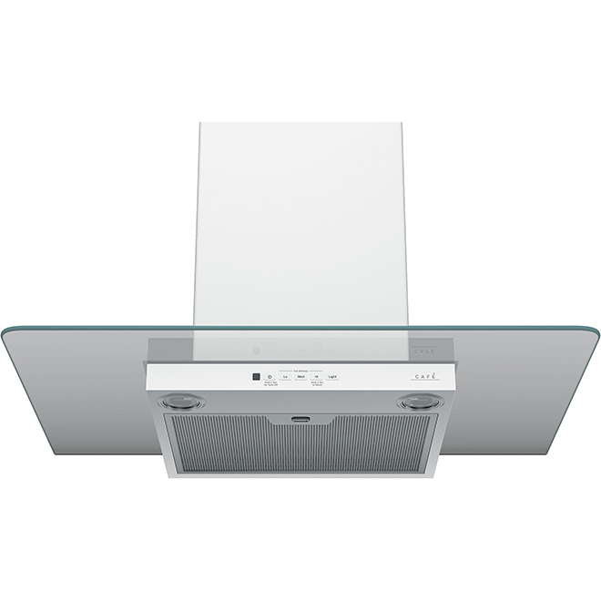 30'' Wall Glass Canopy Chimney Hood - 350 CFM - Matte White