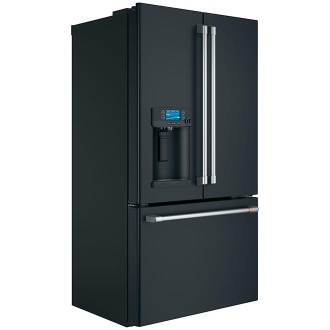 """French-Door Refrigerator - 36"""" - 22.2 cu. ft. - Matte Black"""