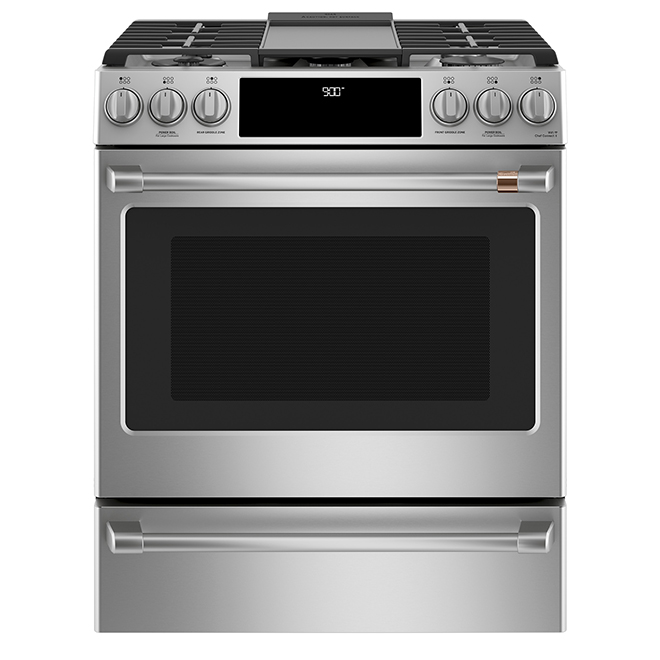 "Café(TM) Built-In Dual-Fuel Range - 30"" - 5.7 cu. ft. - SS"
